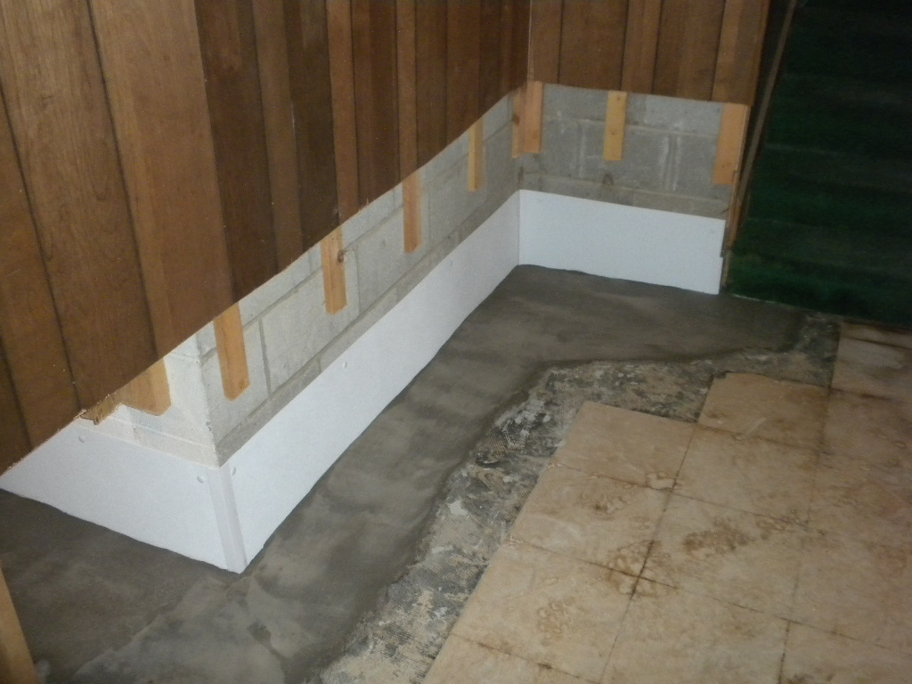 after mold removal basement-wall-epoxy waterproofing corner