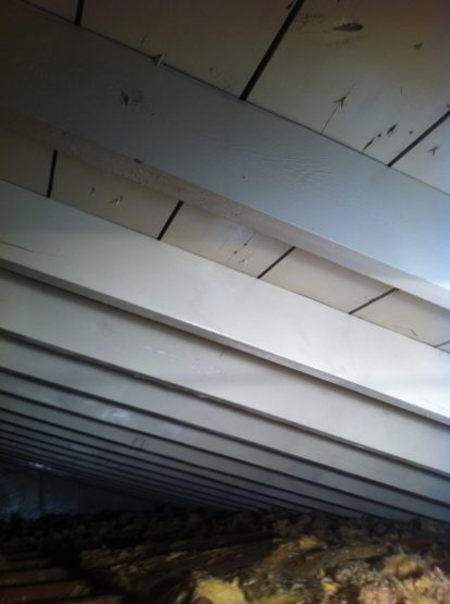 Clean roof rafters after an attic mold remediation performed by Alliance Restoration in Glenview, IL.