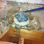bathroom mold found around toilet in home Libertyville, IL before a mold remediation